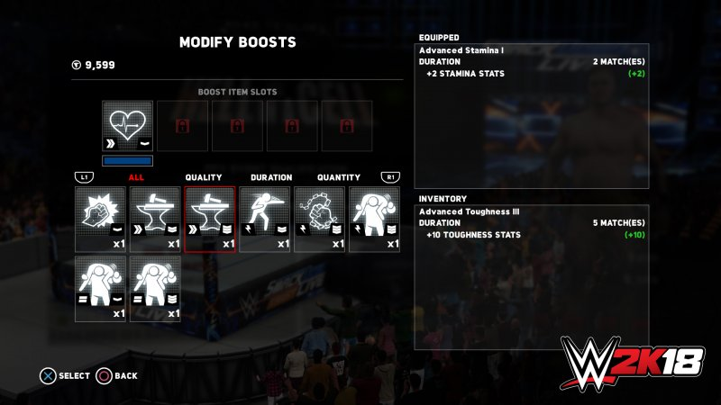 ROAD TO GLORY (MODIFY BOOSTS)