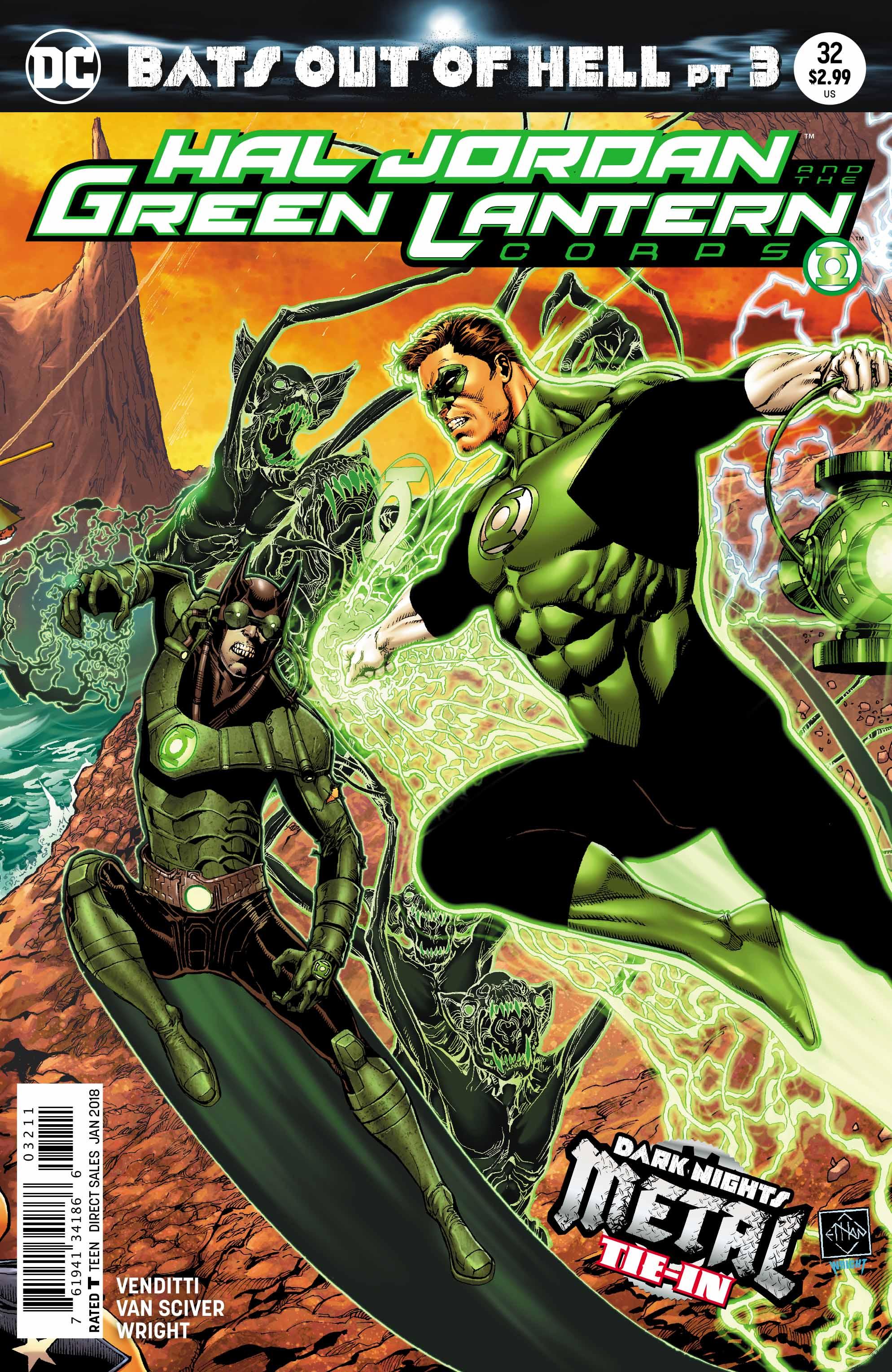Hal Jordan and the Green Lantern Corps #32 (Metal Tie-In)