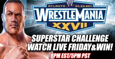 Watch Wrestlemania XXVII Superstar Challenge LIVE AND WIN!